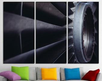 Air Turbine Print Aviation Canvas Art Aircraft Engine Propeller Turbine Airplane Jet Wall Art Aircraft Poster Aircraft Photo Aircraft Print