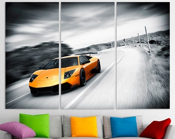 Lamborghini Decor Lamborghini Wall Art Lamborghini Canvas Lamborghini Print Lamborghini poster Lamborghini Photo Muscle Car Top Gear