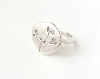 Autumn hedgerow silver ring