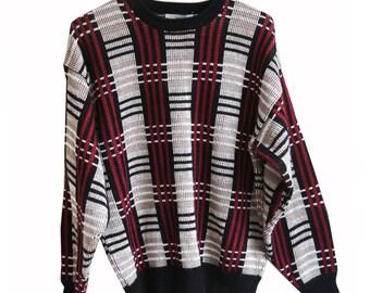 Line Pattern Sweater