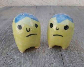 Grumpy Salt and Pepper Shakers // Flower Head Salt and Pepper