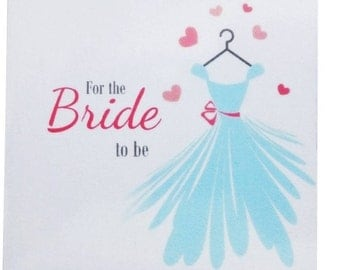 Bride to be blue lucky sixpence gift wedding dress and heart design with blue organza bag