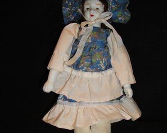 Small Vintage Porcelain Doll Old Bisque Porcelain Doll Miniature Porcelain Doll