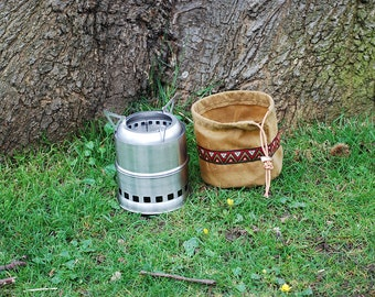 Bushcraft Woodgas Stove Bag Waxed Cotton