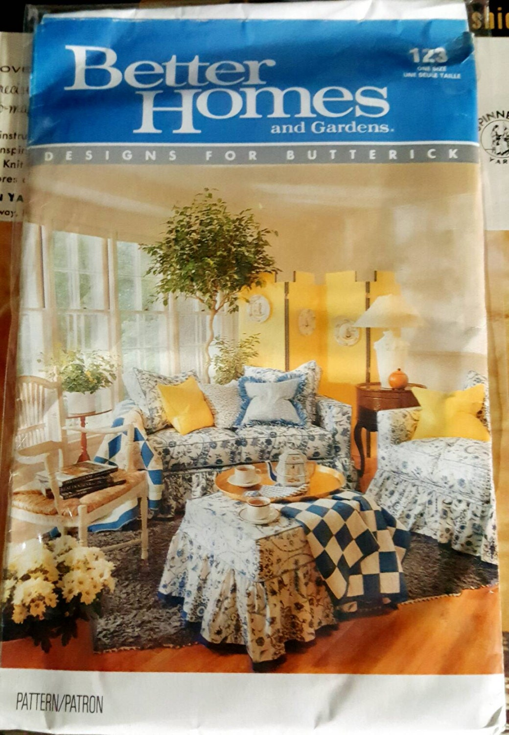 1990 Butterick 123 Better Homes And Gardens Furniture Covers