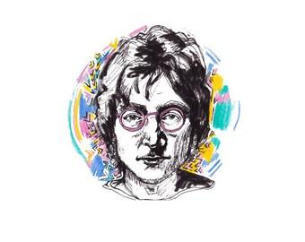 John Lennon print - 8x10 inches
