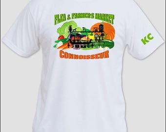 Custom Flea & Farmer's Market T shirt.