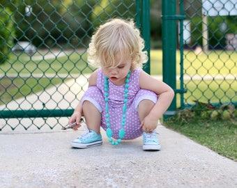 baby romper - toddler romper - polka dot romper - lilac romper - pink - purple