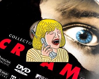 Wrong Number - Soft Enamel Pin - SCREAM Wes Craven - Casey Becker Horror Pin