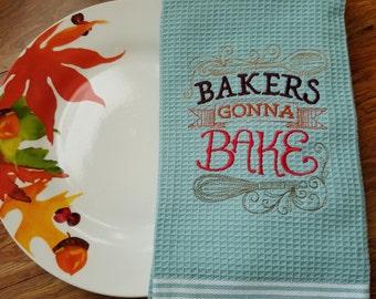 Embroider kitchen towel