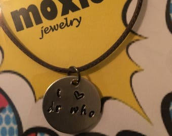 I love Dr. Who necklace