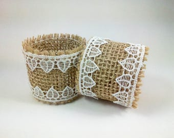 Rustic Napkin Rings - Rustic Wedding Decor - Napkin Holder - Burlap and Lace Wedding - Wedding Table Decorations - Country Wedding Decor