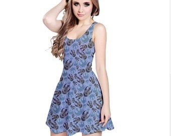 Star Wars Dress - Skater Dress Rebels Dress Cosplay Dress Comicon Dress Plus Size Dress Sci-Fi Dress Millenium Falcon Dress