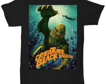 Creature from the Black Lagoon v3 Classic Horror Movie shirt Tee T-shirt  S - 5XL   9 Colours