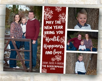 christmas photo card design 4 pictures to wish merry christmas and happy holidays to friends and neighbors