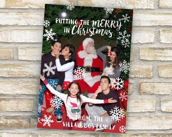 snowflake christmas photo card custom made for Sheyla