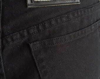 Vintage 80's DKNY In Women We Trust Black High Waisted Jeans Size 8P