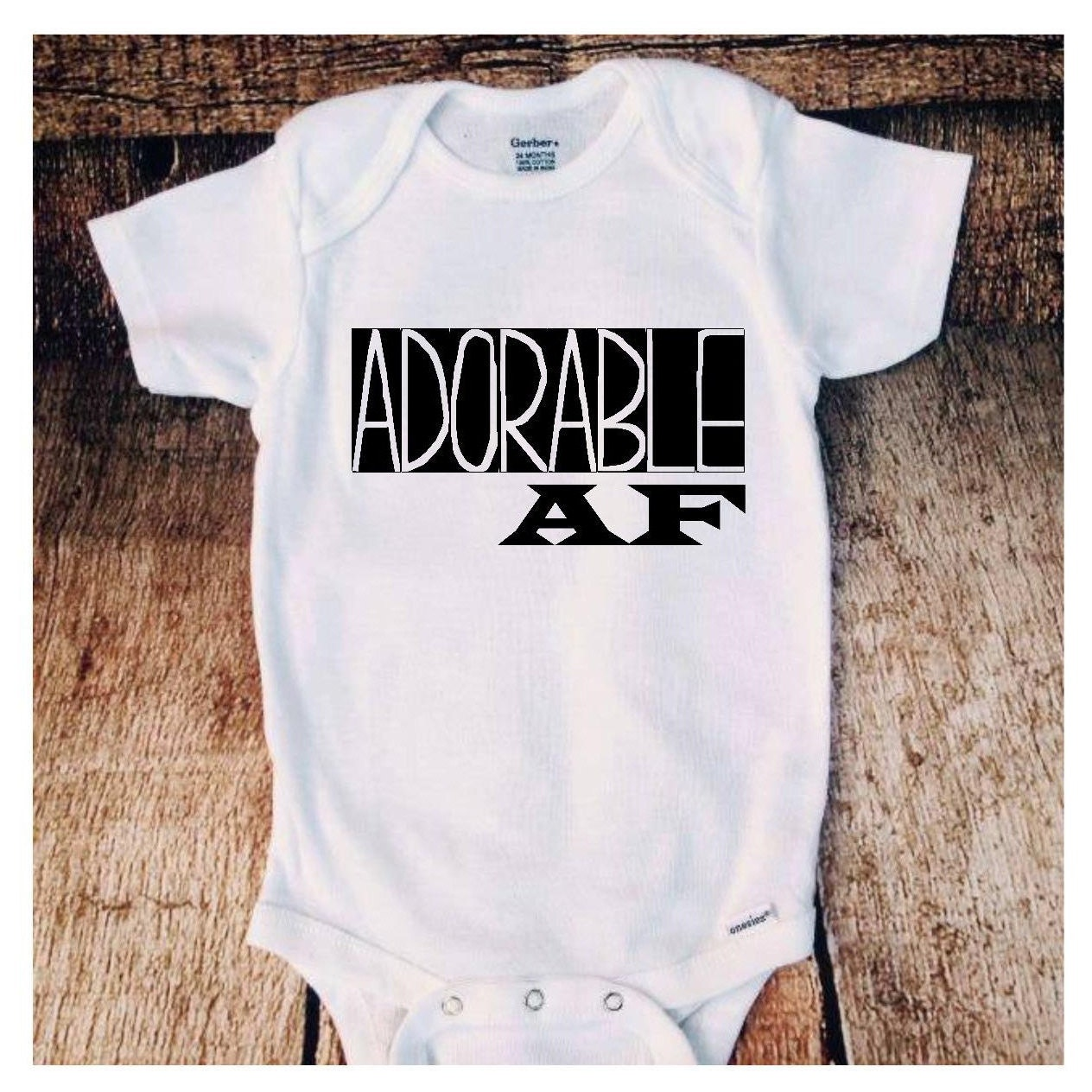 Adorable Af Baby Onesie, Baby Clothes, Baby Shower Gifts, Newborn Gifts For  Mom
