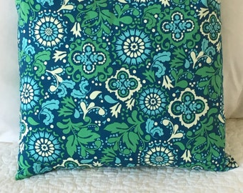 Blue and Green - Pillow Cover - Koko Lee Designer - Swappillow Covers - Gift - Envelope Closure - Decorative Pillow Cover - 16x16