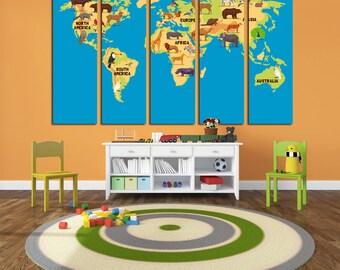 world map for kids kids wall art kids world map kids map map canvas world map print map wall art nursery world map nursery map map for kids