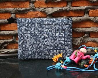 Simply Soft Clutch With Batik Fabric