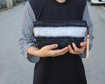 Cool Wristlet Clutch With Hemp Fabric