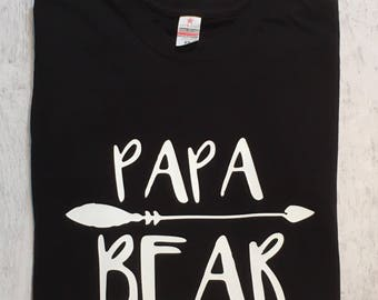Papa Gift, Dad T-shirt, Fathers Day, Gift, Bear Top, T-shirts For Dad, Dad's Tees, Dad's Shirt, Men's Shirt, Daddy T-shirt, New Dad Gift