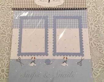 12 x 12 Premade ~ Set of 2 Meri Meri BABY BOY Scrapbook Pages