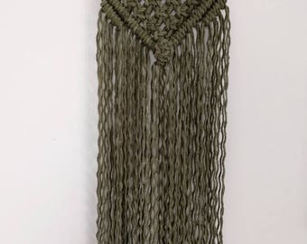 Macrame wall hanger * SALE */olive green wall hanger/tapestry/wallhanging