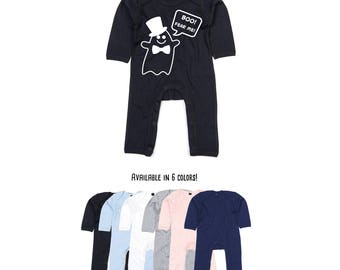 Ghost bodysuit, baby bodysuit, fear bodysuit, scary bodysuit, cute ghost, ghost gift, halloween bodysuit, funny baby bodysuit, bowtie tophat