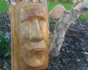 Easter Island Moai Statue - Tiki Bar Art - POLYNESIA Garden -  Garden Statue - Polynesian Garden Art