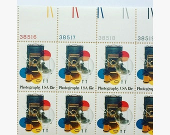 12 Unused Vintage Photography 1978 Stamps