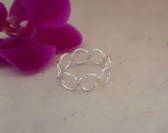 Sterling Silver Single Circles Ring