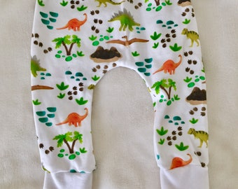 Organic Knit Baby Leggings // Dinosaurs