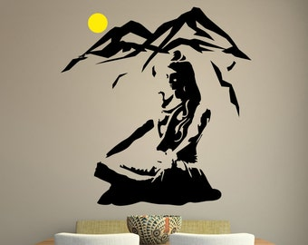 Lord Shiva Wall Sticker Vinyl Hindu God Decal Meditation Stencil Art Gift
