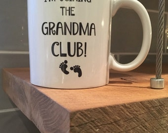 Grandma Mug - First Time Grandma - 11oz Coffee Mug - Best Grandma To Be or Grandparents Reveal Gift for Coffee or Tea Lovers - Mother's Day