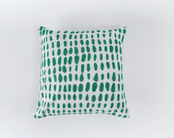 Cactus Pillow Cover, Cotton Pillow Cover, Hand Painted Pillow Cover