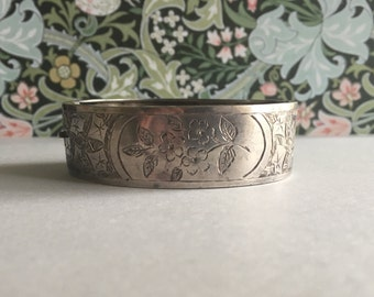 Antique Victorian British Sterling Silver Bracelet | Payton, Pepper & Co | Hallmark Birmingham 1884 | Victorian Bracelet | Victorian Silver