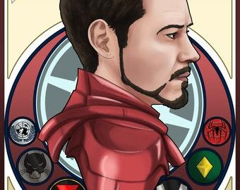 Iron Man Nouveau Print