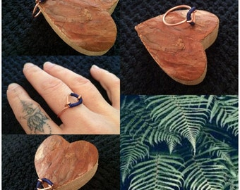 Copper ring & braiding to the beneficial virtues.