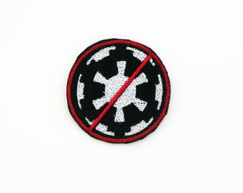 Anti Empire Patch, Star Wars Patch, Iron On Patch, Down With the Empire Patch, Imperial Crest Patch