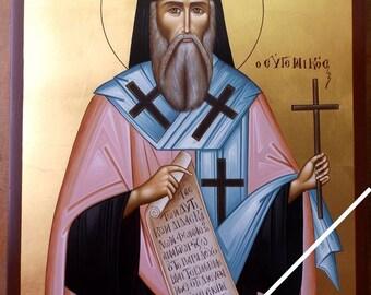 Saint Mark of Ephesus (Eugenikos), orthodox icon, original, hand painted on request, Άγιος Μάρκος ο Ευγενικός, ορθόδοξη αγιογραφία