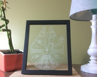 A Millennium Falcon Inspired Etching.
