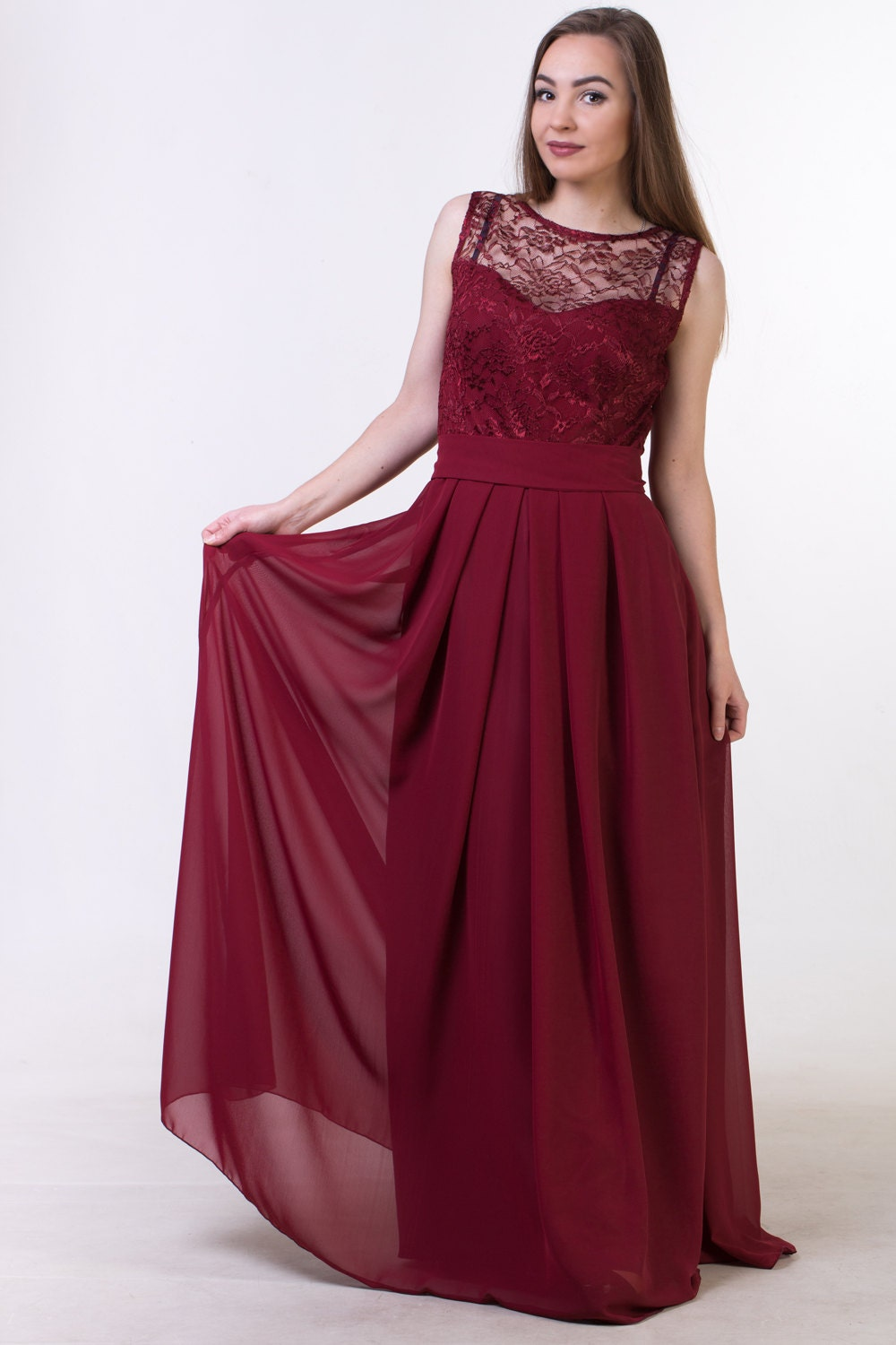 Red wine bridesmaid dress burgundy red bridesmaid dress red zoom ombrellifo Gallery