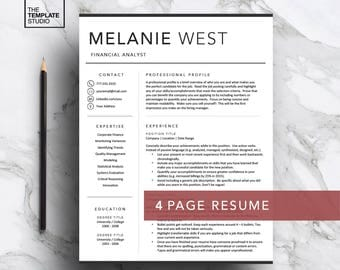 modern resume template for word pages professional resume 1 2 3 - Pages Resume Template