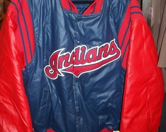 Vintage Authentic Diamond Collection Cleveland Indians baseball jacket Price Lowered