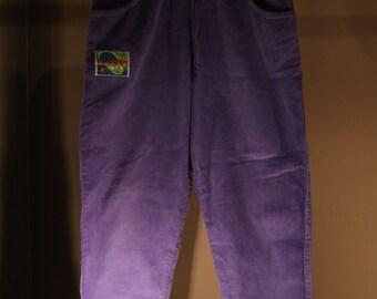 90's corduroy pants long kids purple Vaporwave