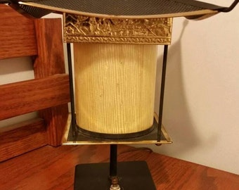 Pagoda Style Lamp Mood Lighting Table Lamp In Accent Motif Gold Buddha  Mountains Dragon Village People