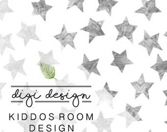 DIGI - DESIGN | Kiddos Room + Free Art Print
