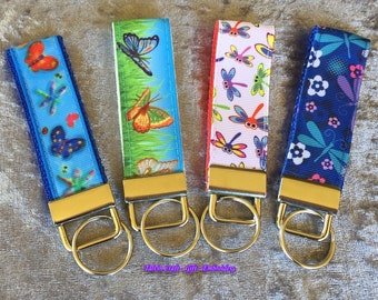 Key Fobs – Butterflies and Dragonflies